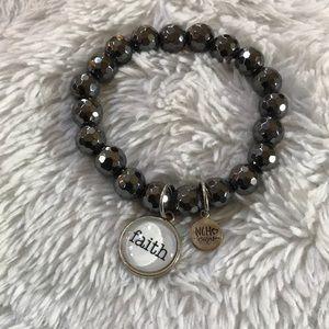 NWOT 🎀 NCH Boutique beaded Faith bracelet 🎀